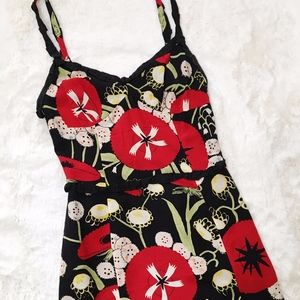Moschino Cotton Floral Poppy Slip Dress